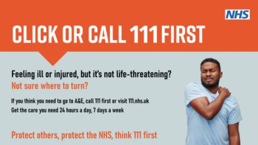 NHS Click or call 111 First