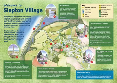 Slapton Village Map