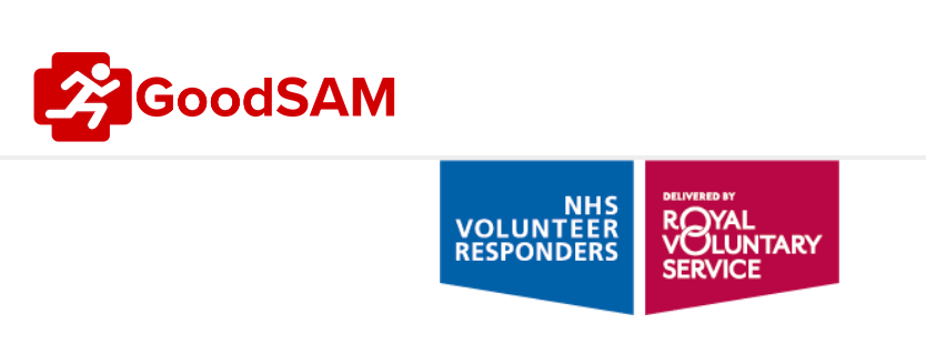 NHS Volunteer responder system GoodSam offical banner