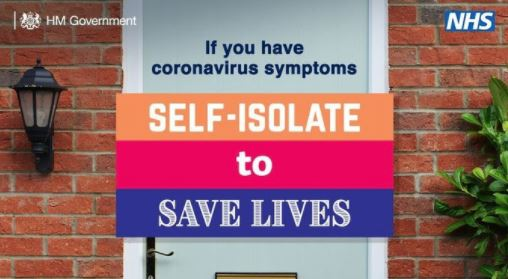 Image of NHS-Gvt self isolate to save lives posters